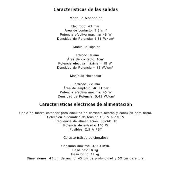 especificaciones técnicas diolipo3b